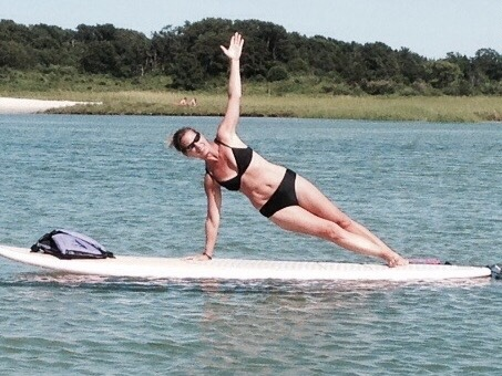 yoga, SUP yoga, paddleboard yoga, ocean city NJ,